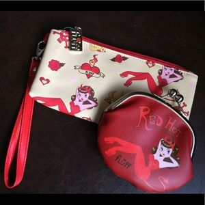"Fluff ""Red Hot"" pinup bag set"